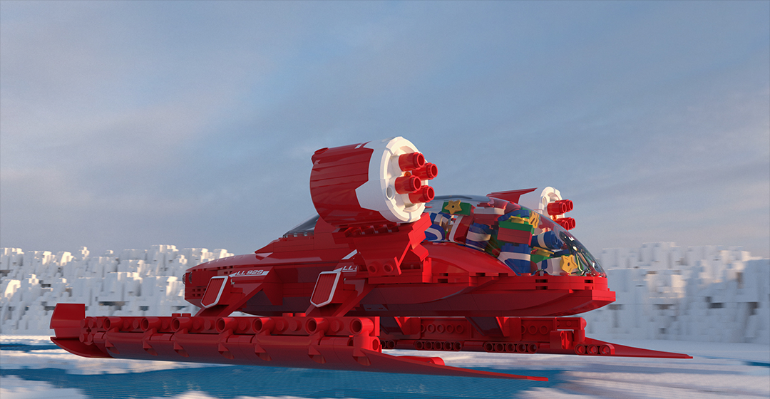 Santa's on the future ride Created by Hieu Trinh