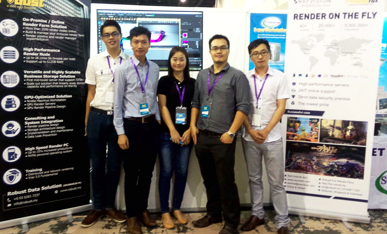 RAYVISION's Attendance on First Malaysia VAX with Local Agent