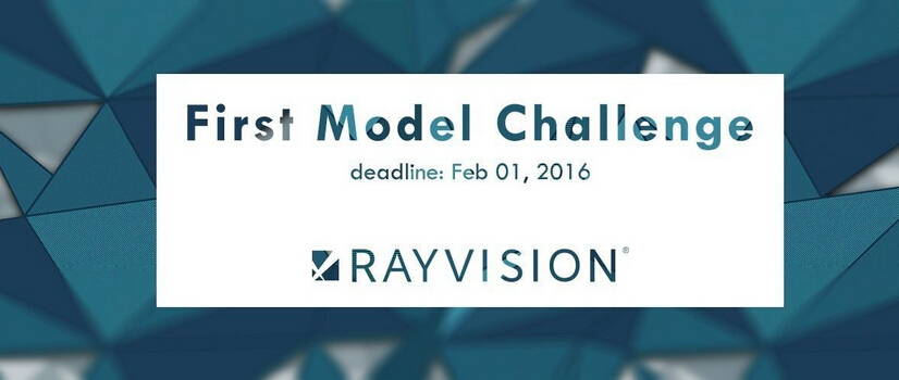 CGTrader 2016 First Model Challenge Exclusively Sponsored by RAYVISION