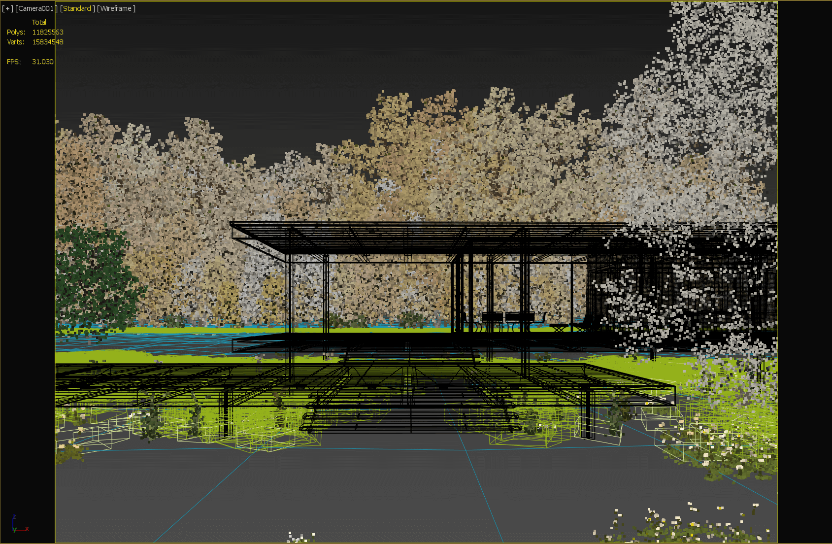 A Teaching To Copy Farnsworth House Based On Corona Renderer