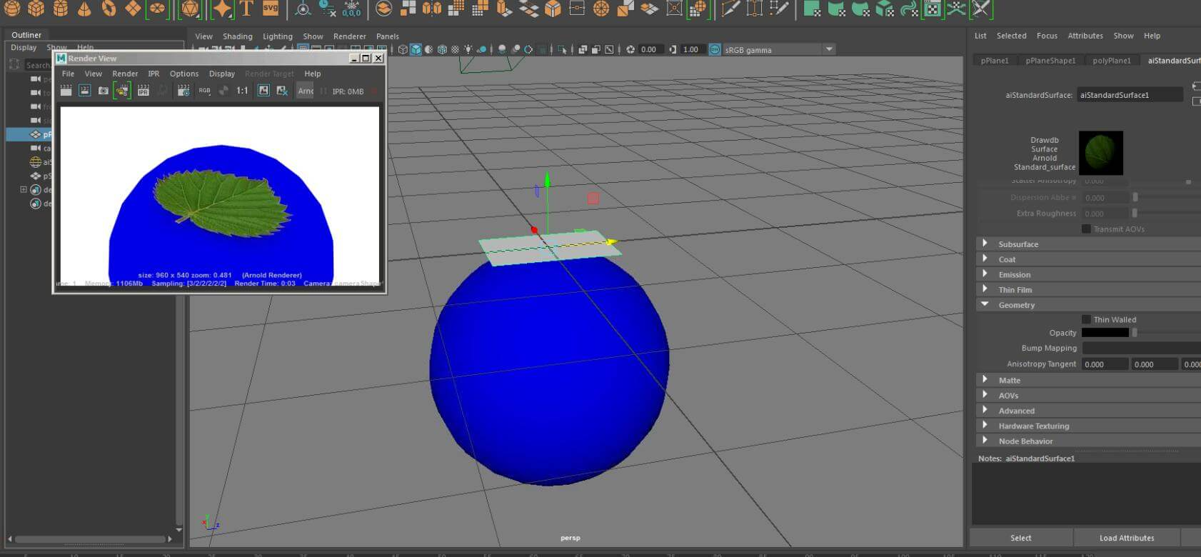How Does Maya Bring Arnold To Render Transparent Textures?