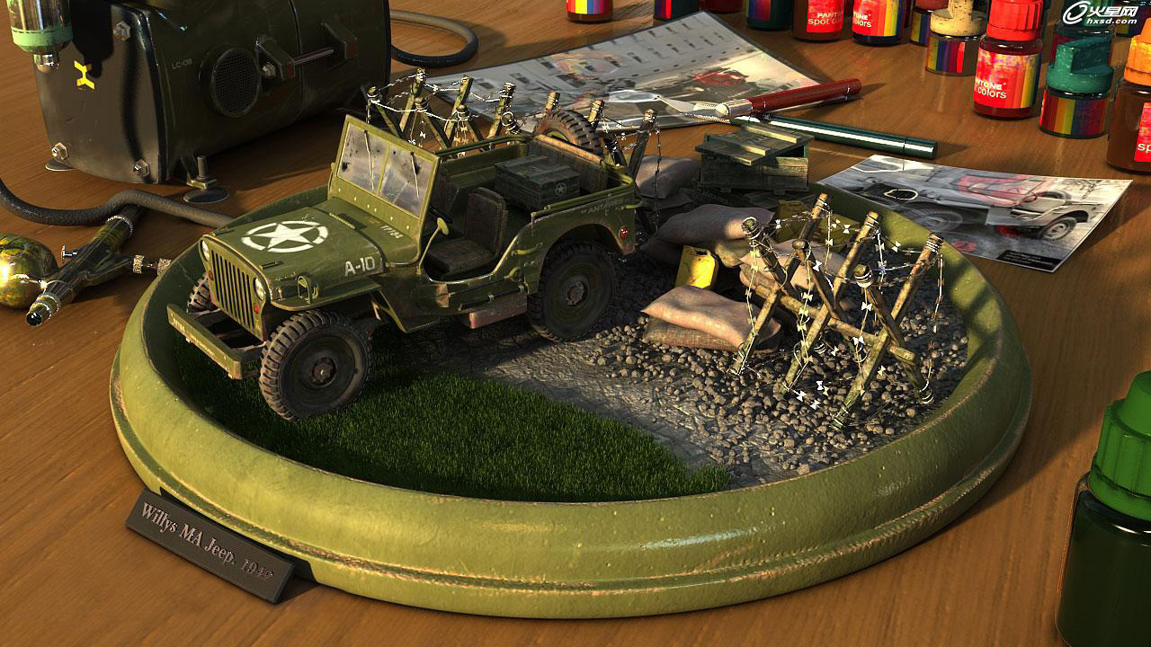 Willys Jeep Production Analysis, A Real Photo-Level Rendering Tutorial